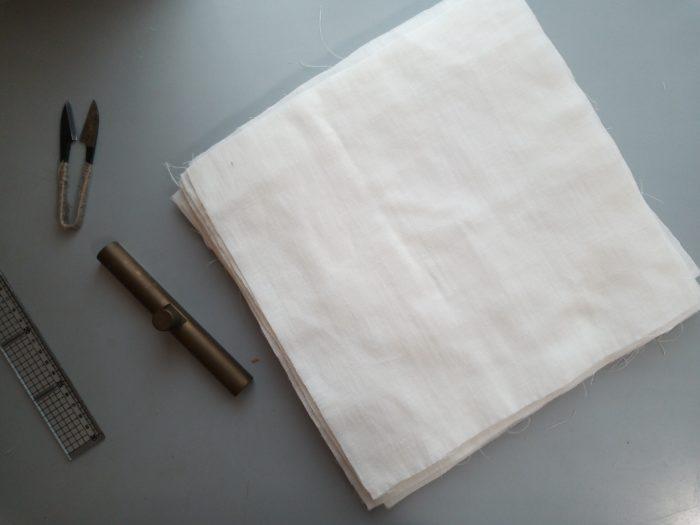 国産の布でつくる台ふきん